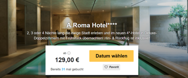 3 Tage Rom in Luxus Hotel mit Wellness