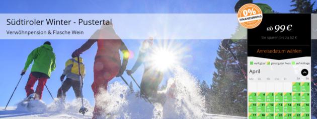 3 Tage Südtirol mit Schneewanderung