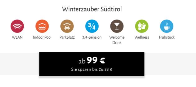 3 Tage Südtirol mit Wellness