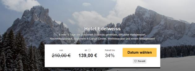 4 Tage Südtirol mit Wellness