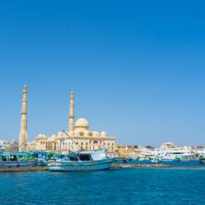 7 Tage Luxus in Hurghada im TOP 5* Hotel mit All Inclusive, Flug, Transfer & Zug für 416€