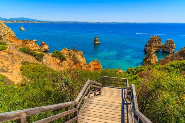 Algarve Weg zum Meer