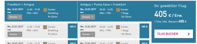 Antigua Flug Schnäppchen