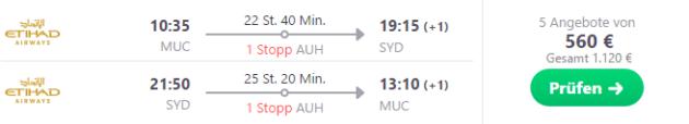 Australien Sydney Flug