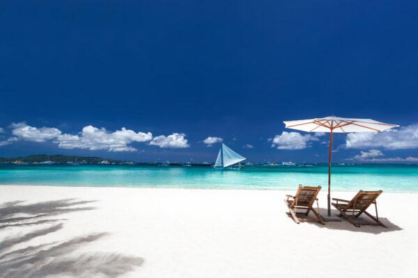 Bahamas Strand Weiß