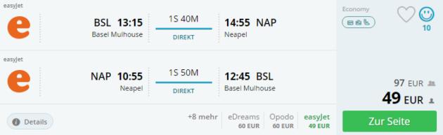 Basel nach Neapel
