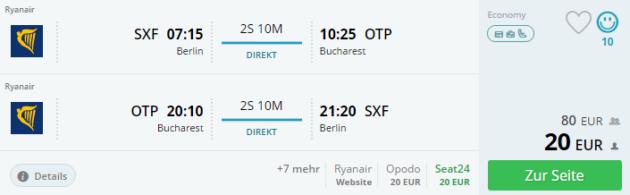 Berlin nach Bukarest