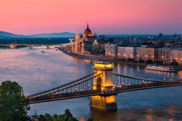 Budapest Donau Sonnenuntergang