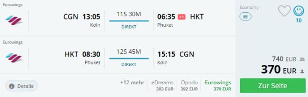 Flug Phuket Angebot