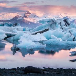 Island Dawn Glaciers