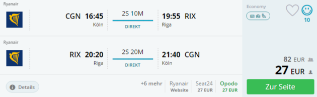Koeln nach Riga