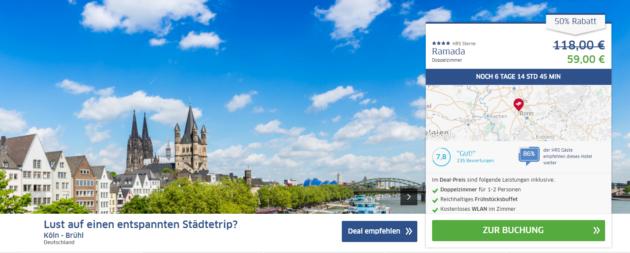 Köln Trip Kurzurlaub Angebot