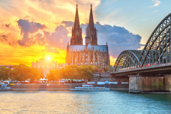 Köln Dom Sonnenuntergang