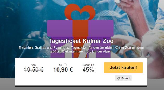 Ticket für Kölner Zoo