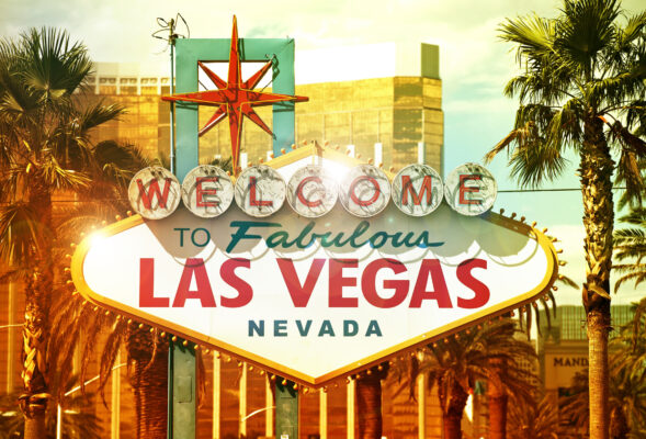 Las Vegas Welcome Schild am Tag
