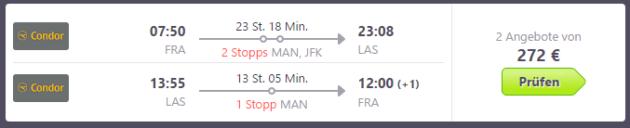 Frankfurt nach Las Vegas Error Fare
