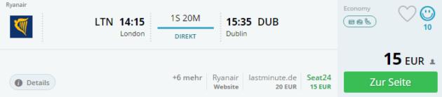 London nach Dublin