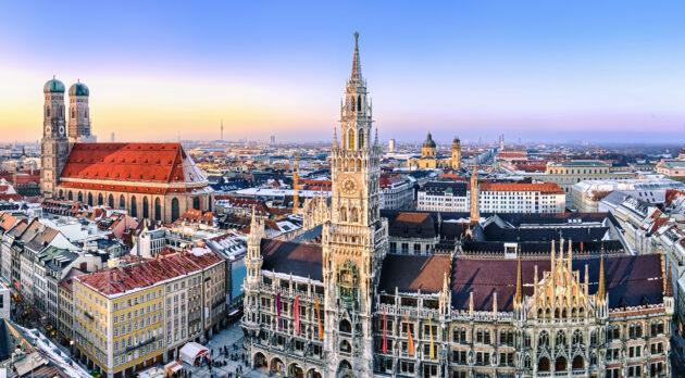 München im Winter Marienplatz