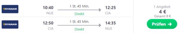 Nuernberg nach Rom