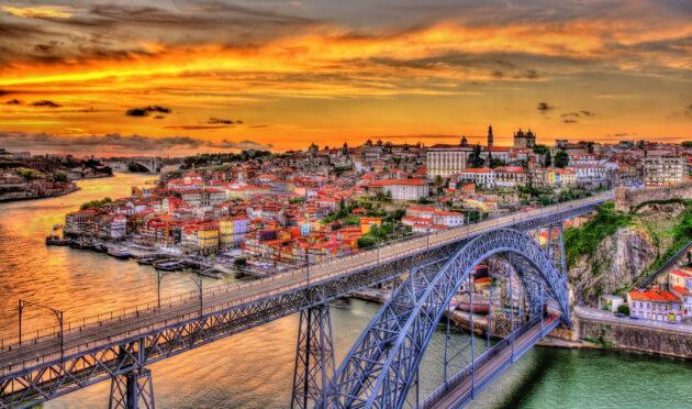 Porto bei Sonnenuntergang