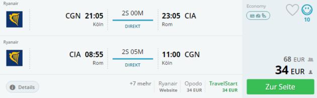 Rom Flug Angebot