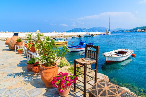 Samos Hafen Kokkari