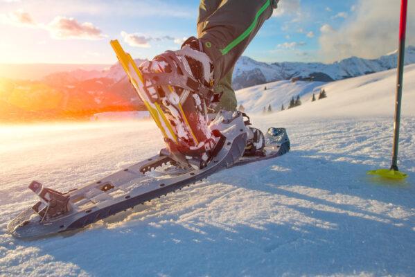 Schneeschuh-Laufen im Winter