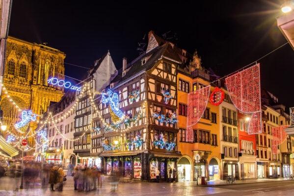 Straßburg beleuchtet