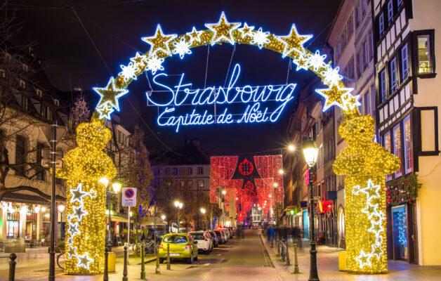 Straßburg Eingang Weihnachtsmarkt