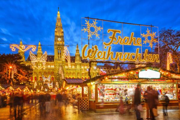 Wien Eingang des Weihnachtsmakrtes