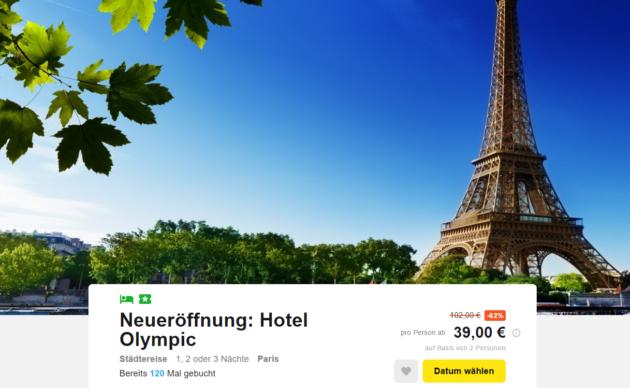 Tage Paris Angebot Bahn Und Hotel