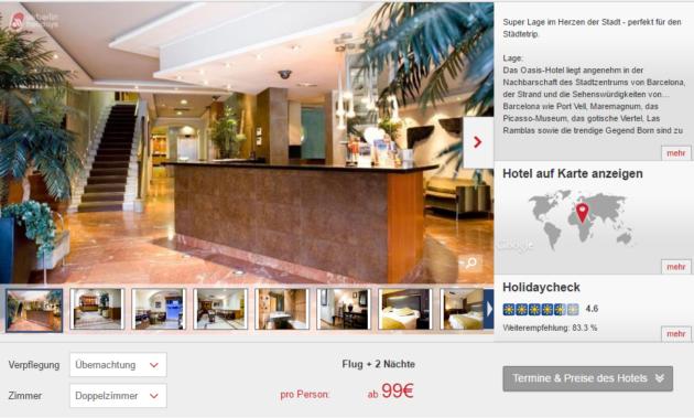 3 tage barcelona im super zentralen hotel inkl flug f r. Black Bedroom Furniture Sets. Home Design Ideas