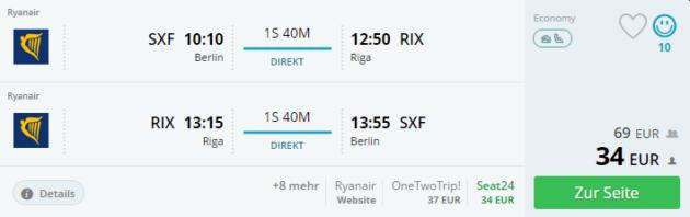 3 Tage Riga Flüge