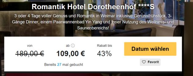 3 Tage Romantikurlaub in Weimar