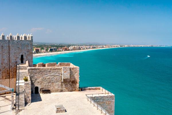 Valencia Küste Klippe