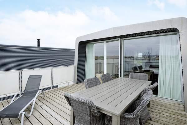 Bork Havn Hausboot Dachterrasse