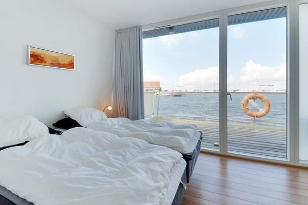 Bork Havn Hausboot Schlafzimmer