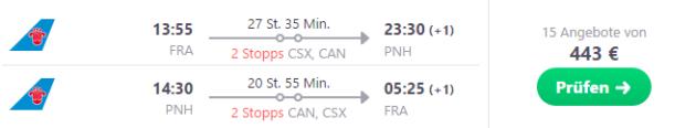 Frankfurt nach Phnom Penh