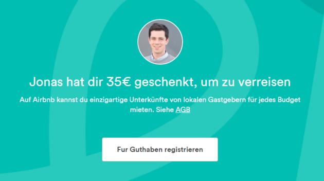 Gutschein Airbnb Neukunden