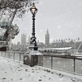 London im Winter mit Big Ben