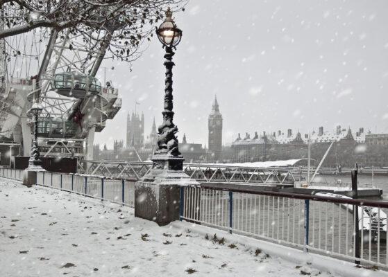 London im Winter mit Big Ben