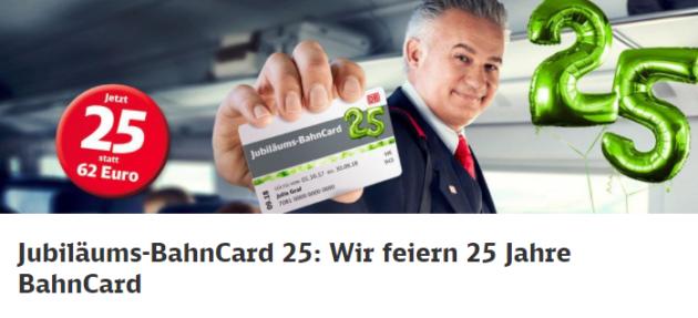25 Jahre Bahncard Deal