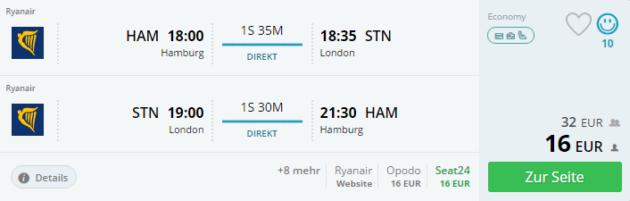 3 Tage London mit Flug