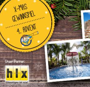 *Gewinner ausgelost* X-Mas Gewinnspiel - 4. Advent: 1 Woche im 4* Hotel auf Gran Canaria inkl. Flug & Halbpension