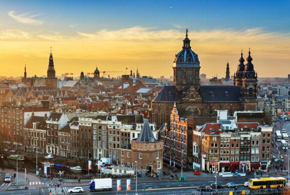 Amsterdam Winter Skyline