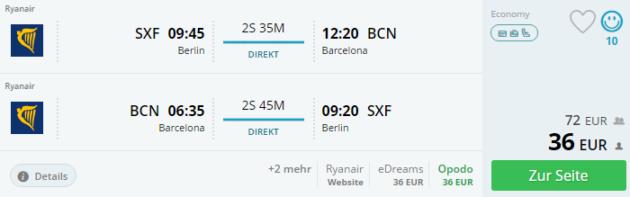 Flug Barcelona Schnäppchen