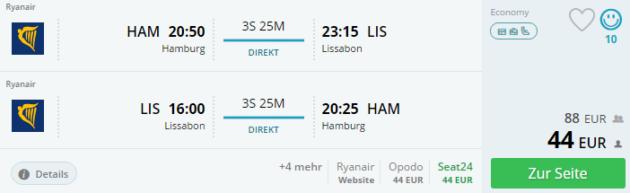 Flug Lissabon Angebot
