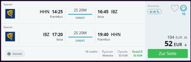 Hahn nach Ibiza