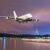 Jumbo Jet bei Nacht Flugzeug
