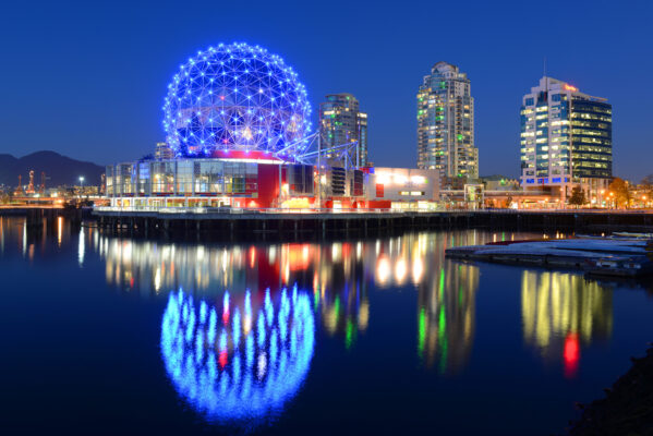 Kanada Vancouver bei Nacht